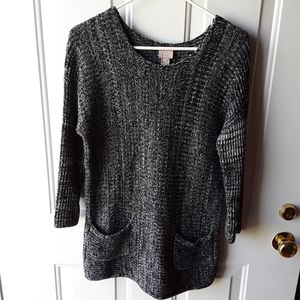 Chico's Size 1 Marled Tunic Sweater